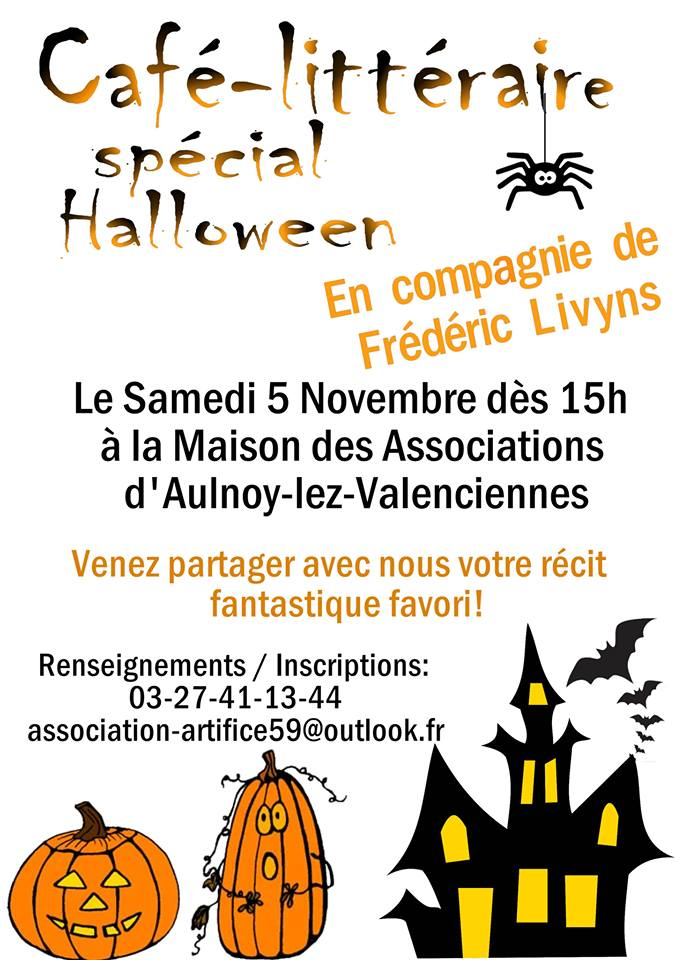 302761 cafe litteraire halloween aulnoy valenciennes tourisme